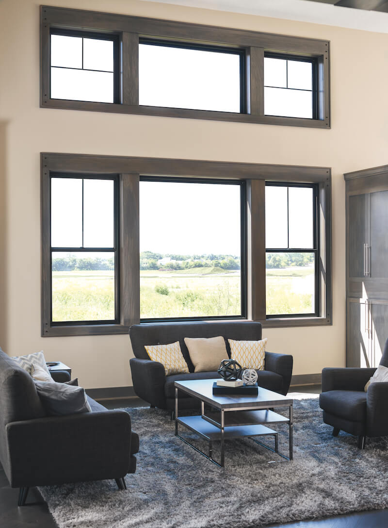 Impervia Black trim window